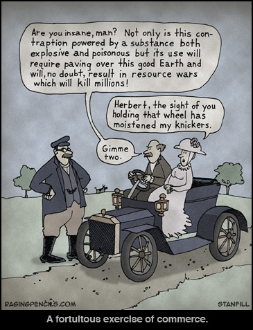 The early days of car salesmanship.