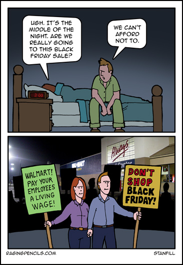 The progressive comic about boycotting Black Friday.