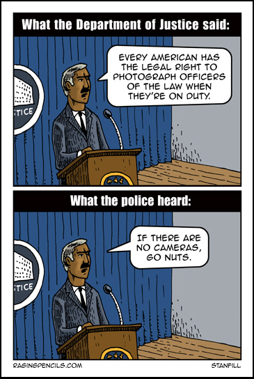 The progressive comic about filming the police.