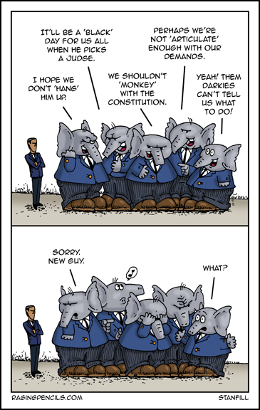 The progressive web comic about Republican racism and the Supreme Court.