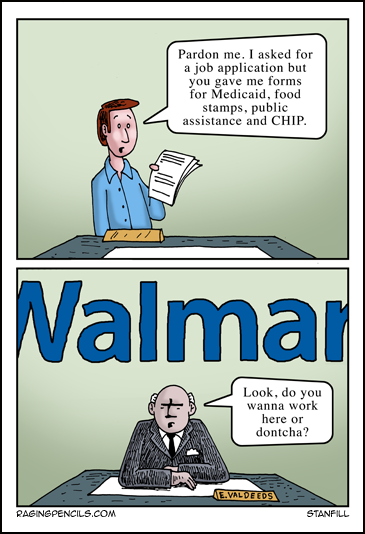 The progressive web comic about Walmart's low wages.