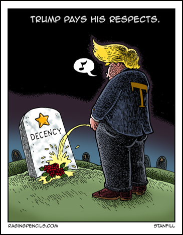 The progressive web comic about that evil, moronic piece of shit, Donald Trump.