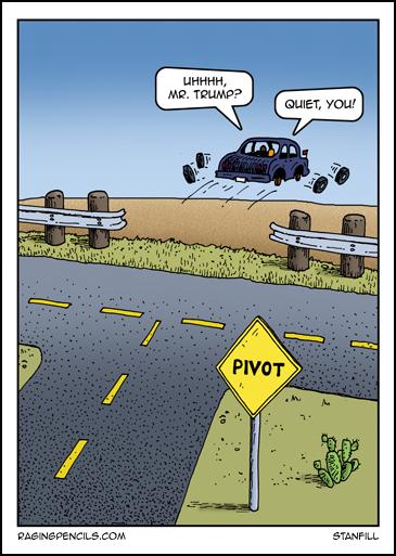 The progressive web comic about Trump's political pivot.