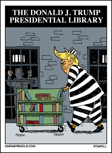 The progressive web comic about the Trump Library.