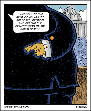 The progressive web comic about Trump lying about the Constitution.