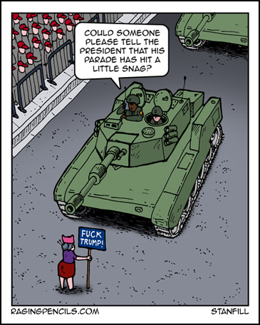 The progressive web comic about Trump's military parade.