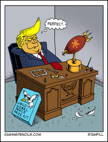 The progressive web comic about trump screwing up the North Korea peace talks.