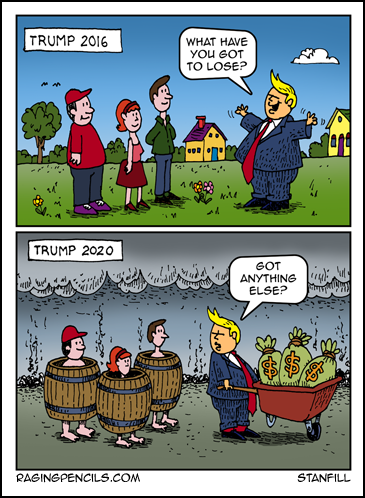 The progressive web comic about Trump stealing everything.
