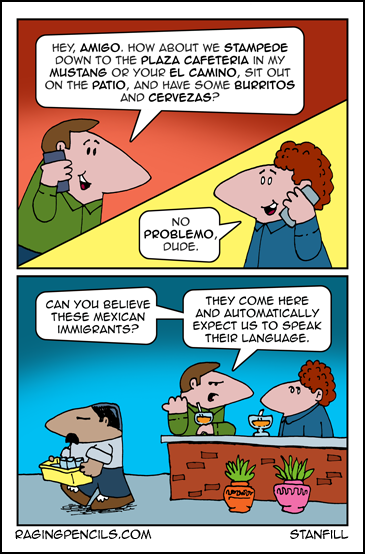 Progressive comic about how Americans speak more Spanish than they think.