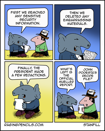 Progressive comic about the Mueller Report