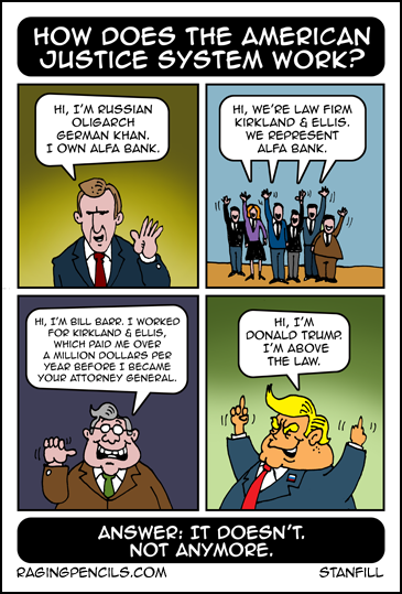Progressive comic about where Bill Barr came from.