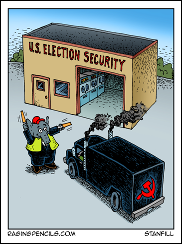 Progressive comic about the GOP ignoring election safety.