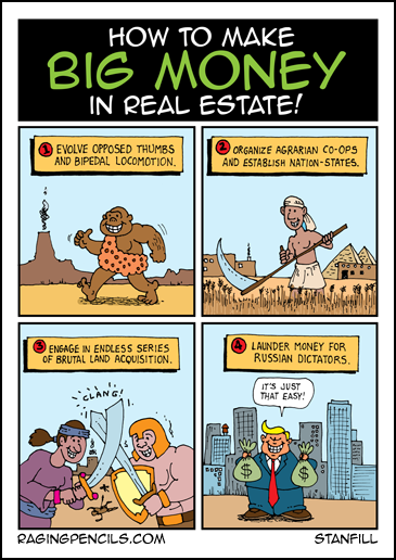 Progressive comic about Trump real estate