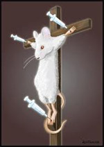 crucified mouse